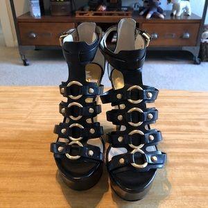 eba6e4c67 MICHAEL Michael Kors Shoes - MICHAEL Michael Kors Nadine Black Gladiator  Wedge